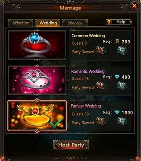 League of Angels Wedding