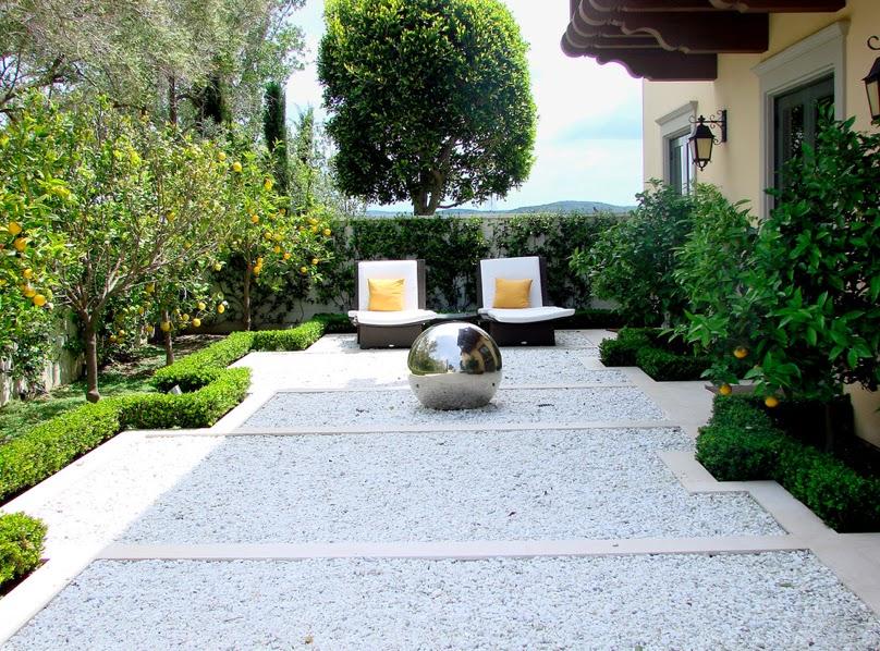 White gravel not your grandma s garden sage outdoor designs for Gravel garden designs