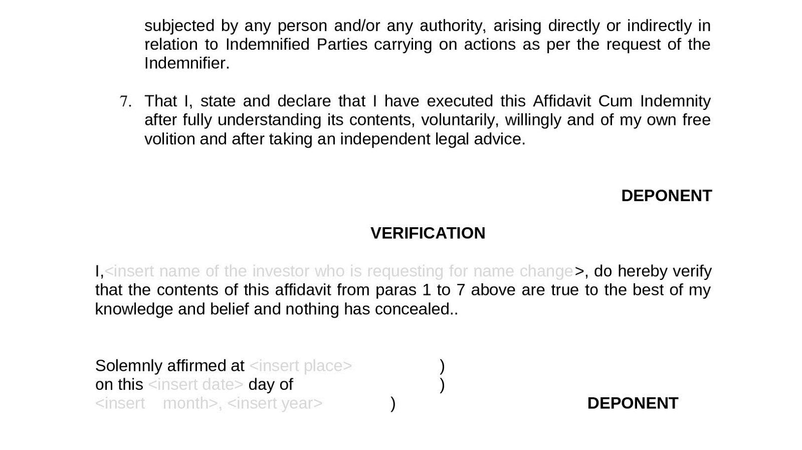 Doc7301000 Address Affidavit Sample Brilliant Address – General Affidavit Sample