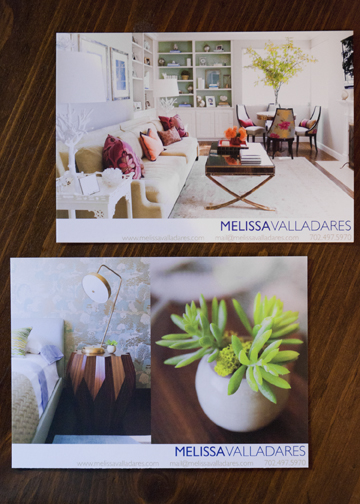 Promotional postcards by Melissa Valladares