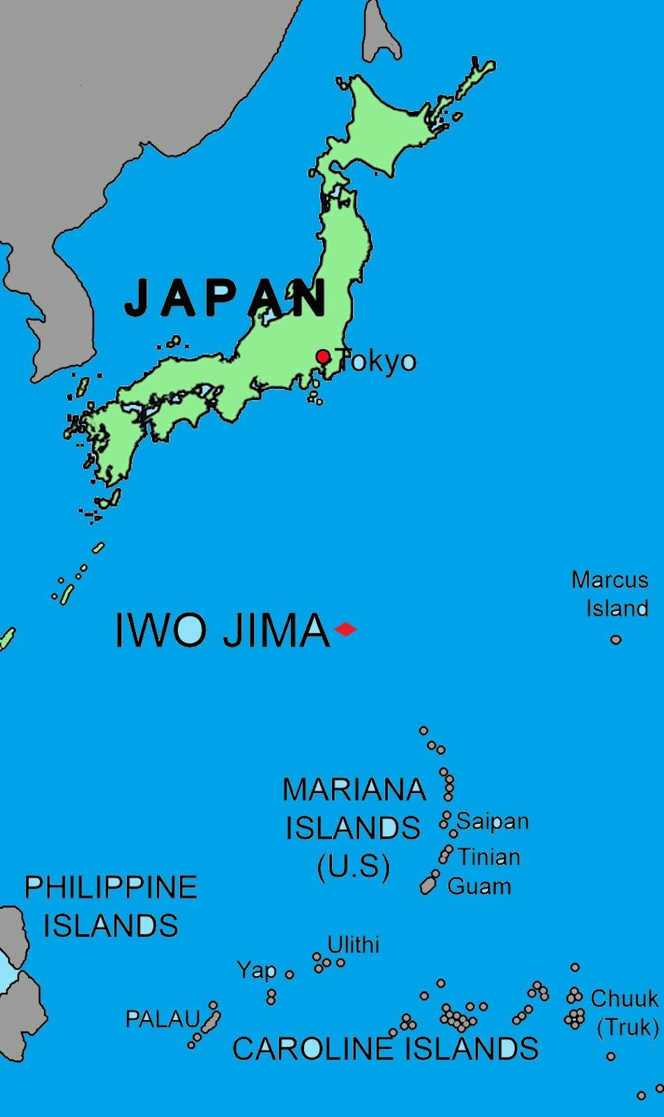 Where Is The Island Of Iwo Jima Located