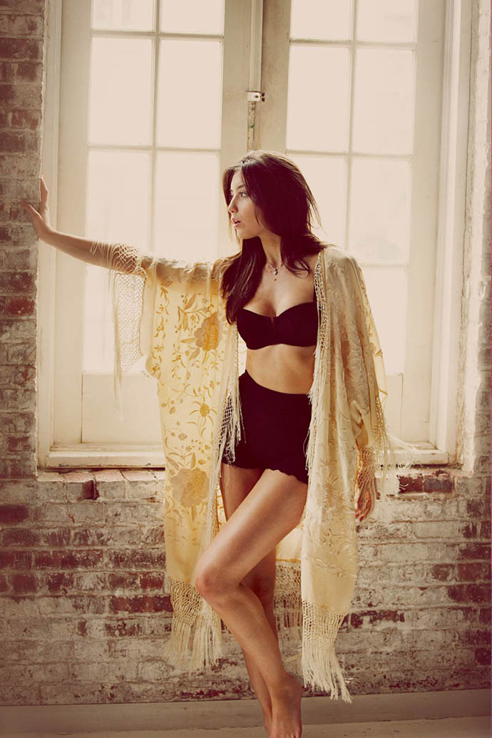 Intimately Free People: Daisy Lowe in Free People's intimates campaign shot by Guy Aroch