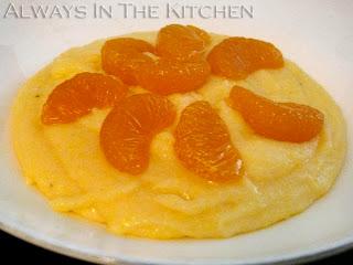 breakfast at home: orange breakfast polenta