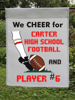 We cheer our school football custom garden flag