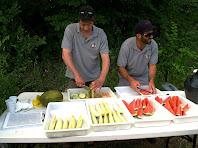 El darrer avituallament amb meló i síndria