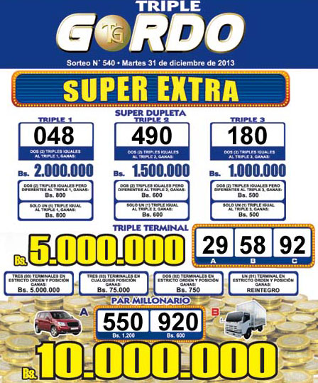 Triple Gordo sorteo 540