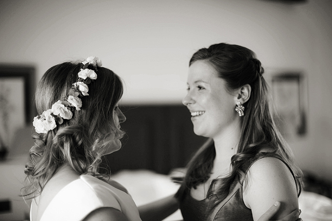 Wedding Photography Doonbeg Ireland, bride in floral crown
