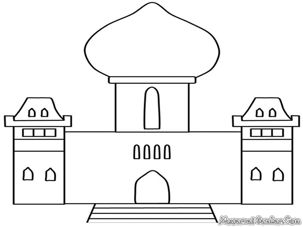 Gambar Sketsa Masjid