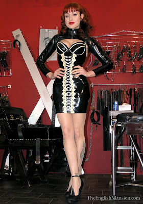 Mistress V Tight Black Latex Dress