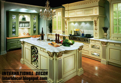White kitchens designs with classic wood kitchen cabinets for Classic kitchen cabinets