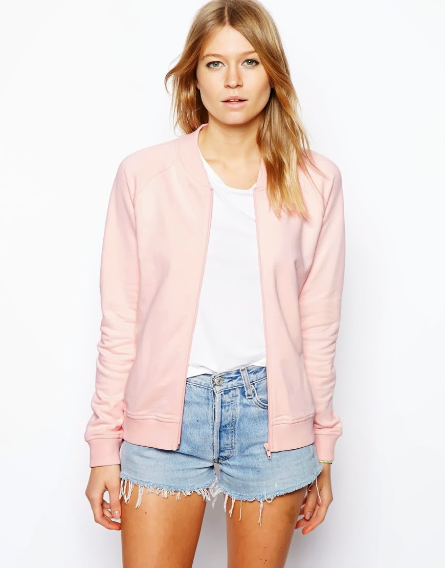 light pink jersey top