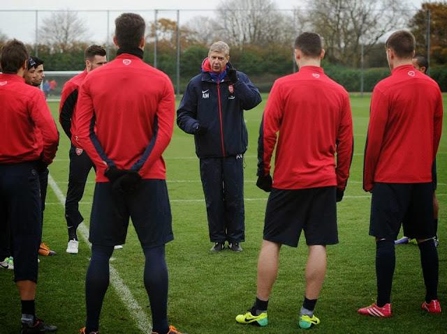 Arsene Wenger talks tactics
