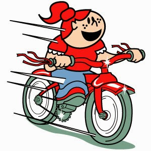 Girl Riding Bike Clip Art
