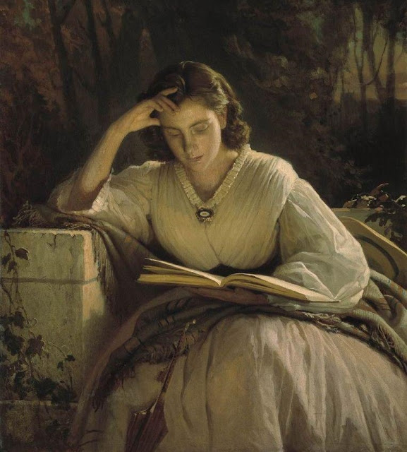 reading, ivan kramskoy,realism painting