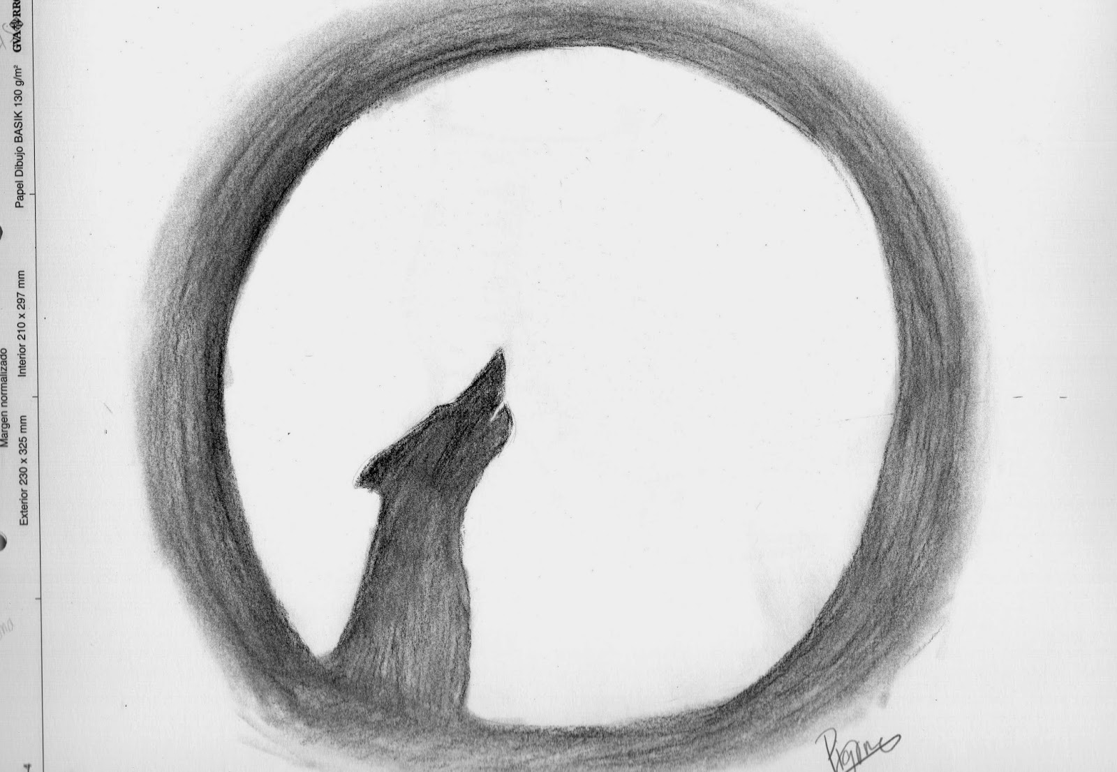 El blog de pigore Lobo aullando a la Luna