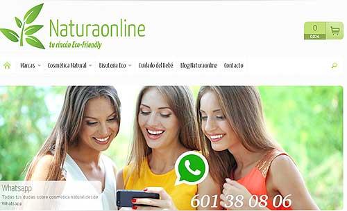 web de la tienda de maquillaje ecologico naturaonline