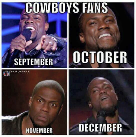cowboys fans, september, october, november, december. #cowboyshaters #nfl