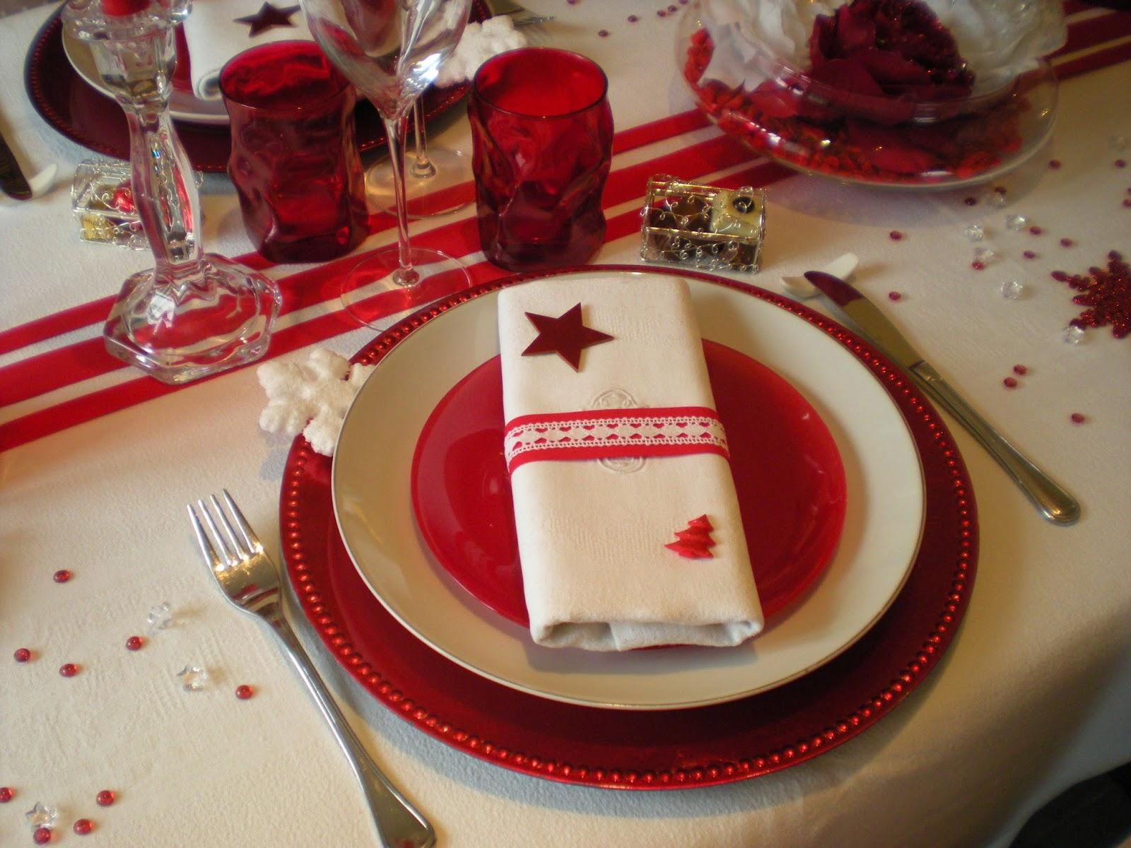 Enfin un petit ballotin de chocolats met le point final for Comdecoration de noel rouge et blanc