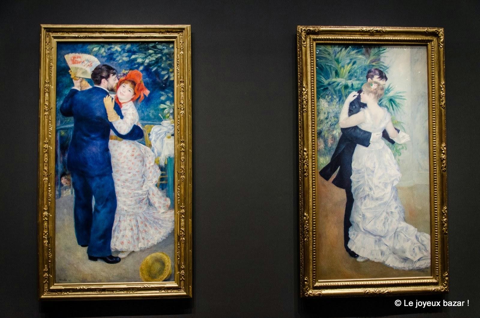 Pierre-Auguste Renoir - Danse à la campagne et danse à la ville - musee d'Orsay