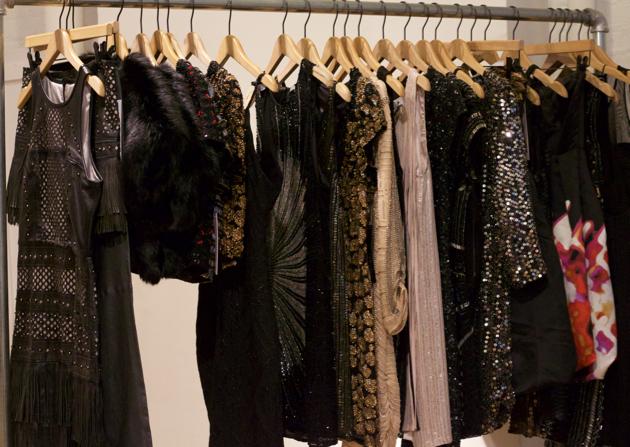 Parker dresses on display