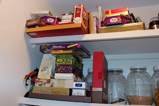 The Temptation: a pantry full of chocolate!