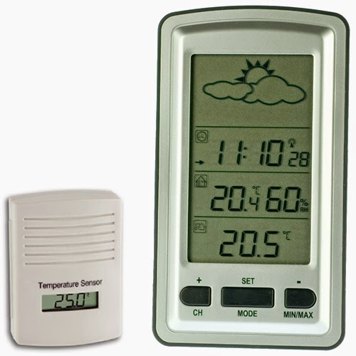 weather station, Temperature, Humidity, Clock, Weather Forecast,