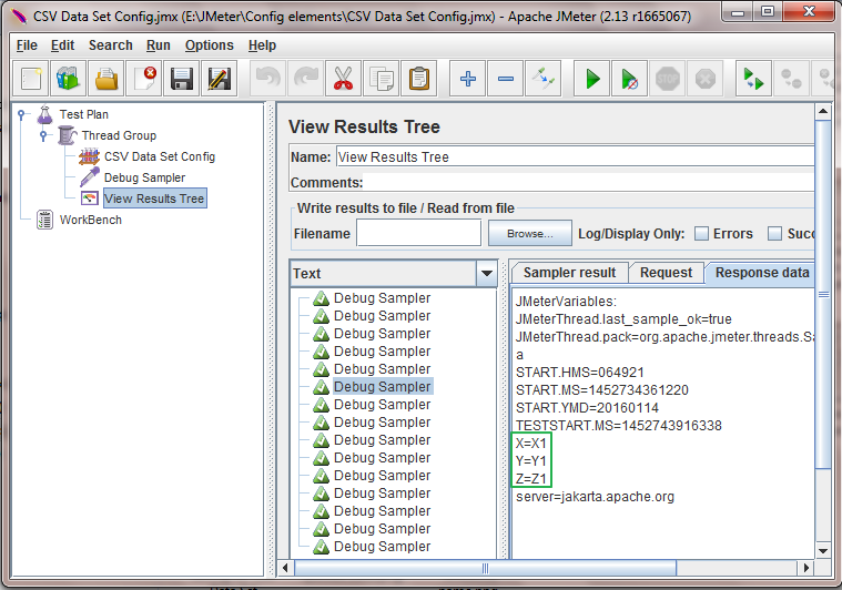 JMeter - Recycle On EOF? Usage In CSV Data Set Config