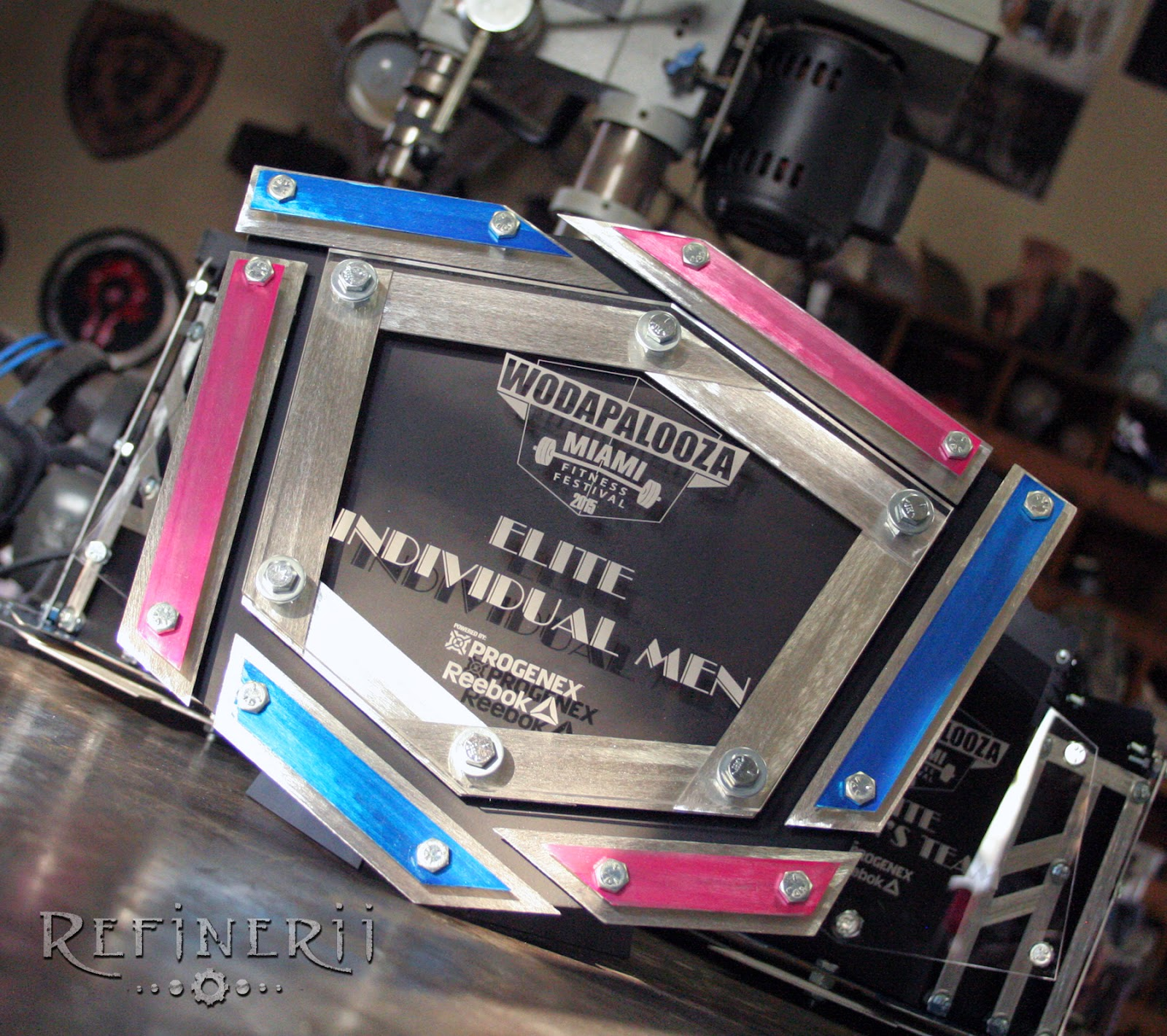 Custom Trophied created from metal for the Wodapalooza Fitness Festival 2015.  www.refinerii.net