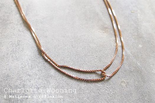 Collier argent vermeil rose Charlotte Wooning bijoux Duo