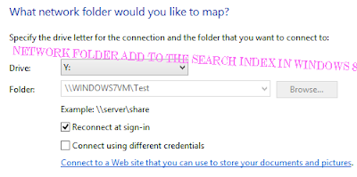 Network Folder Add to the search index in Windows 8