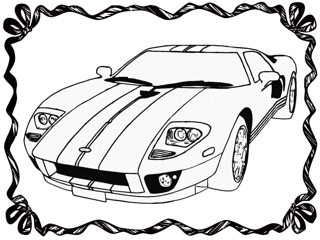 Realistic Car Coloring Pages : Race car coloring book pages realistic