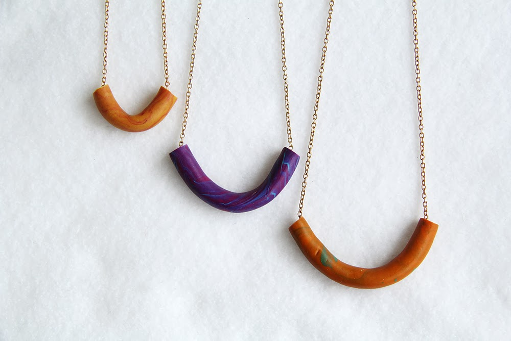Diy marbled tube necklace for How to make marble jewelry