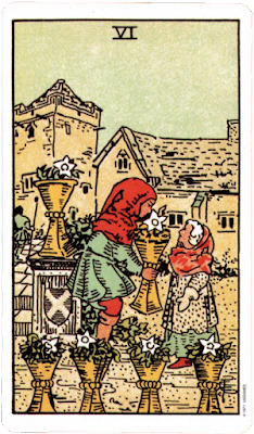 Six of Cups Original Rider Waite Tarot