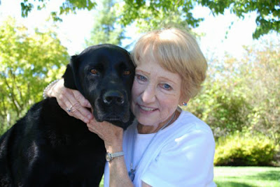 Elaine Wilderman of Bethany, Oregon and her dog Clark are one of the teams recently certified to do therapy work
