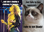 Grumpy Cat meets Led Zeppelin. Grumpy Cat meets Led Zeppelin