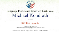 Spanish Language Certificate
