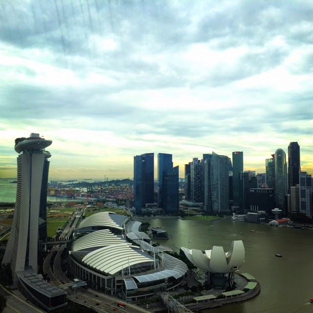 Marina Bay Sands seen from the Singapore Flyer
