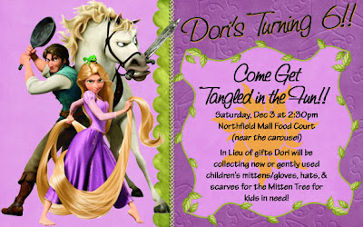 rapunzel tangled party invitation