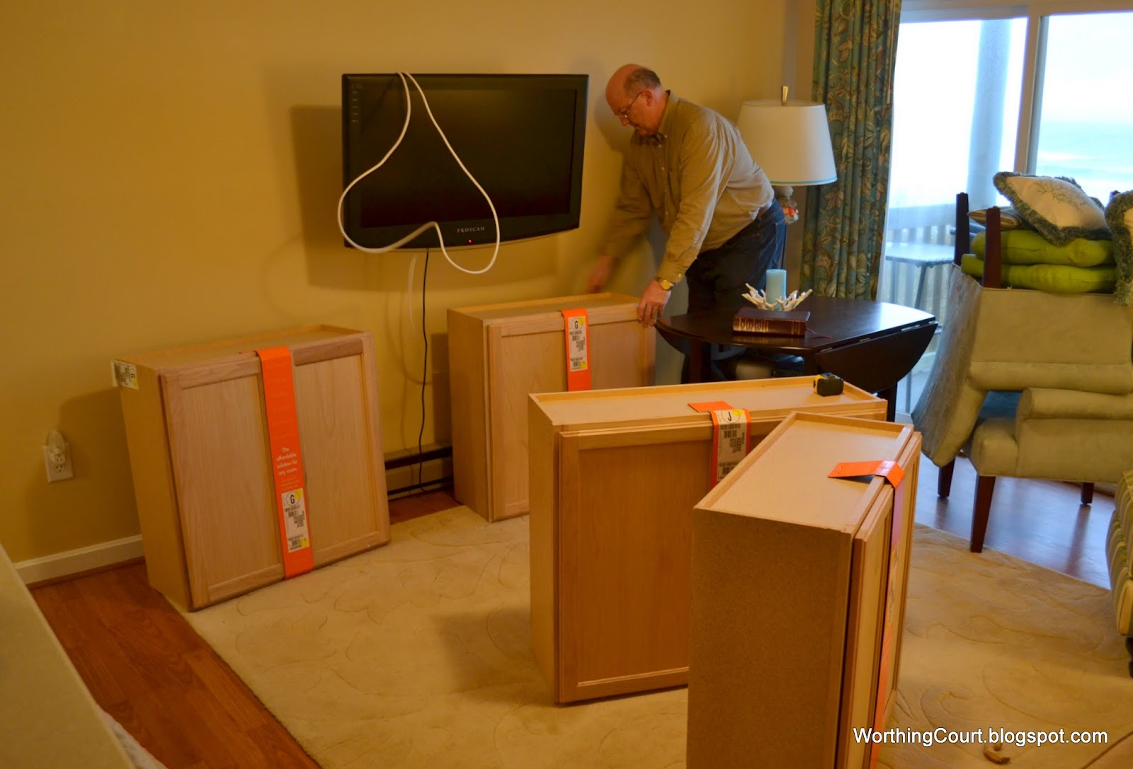 Superb img of How to build bookcases using kitchen cabinets for the base via  with #C73F04 color and 1600x1087 pixels