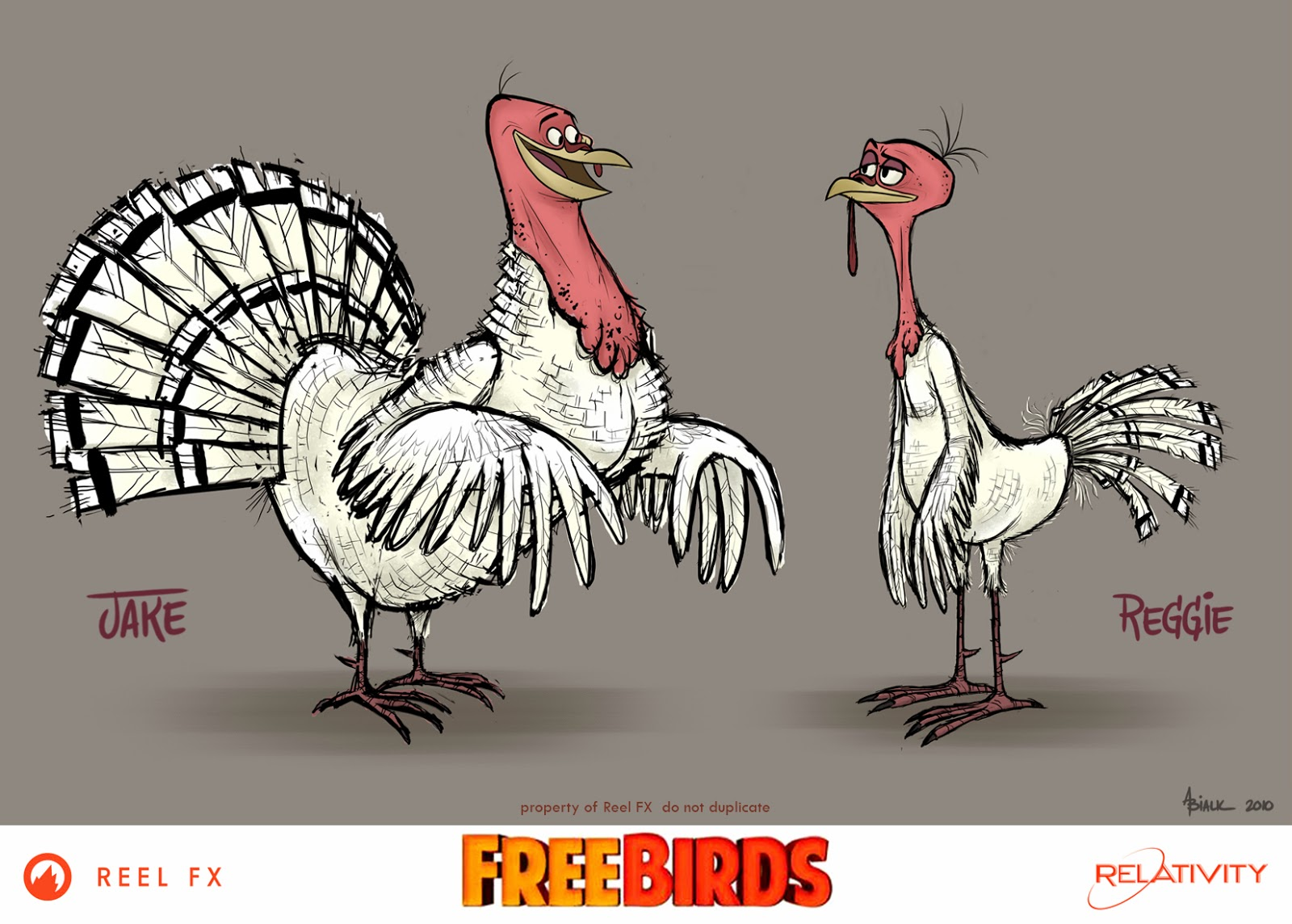 Character Design Reel : Andy bialk quot free birds by reel fx