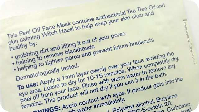 Boots Tea Tree & Witch Hazel Peel Off Mask