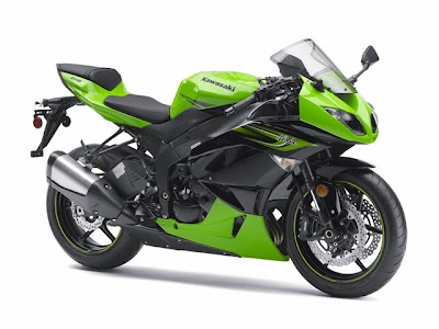 2011 Kawasaki Ninja ZX-6R Green Color