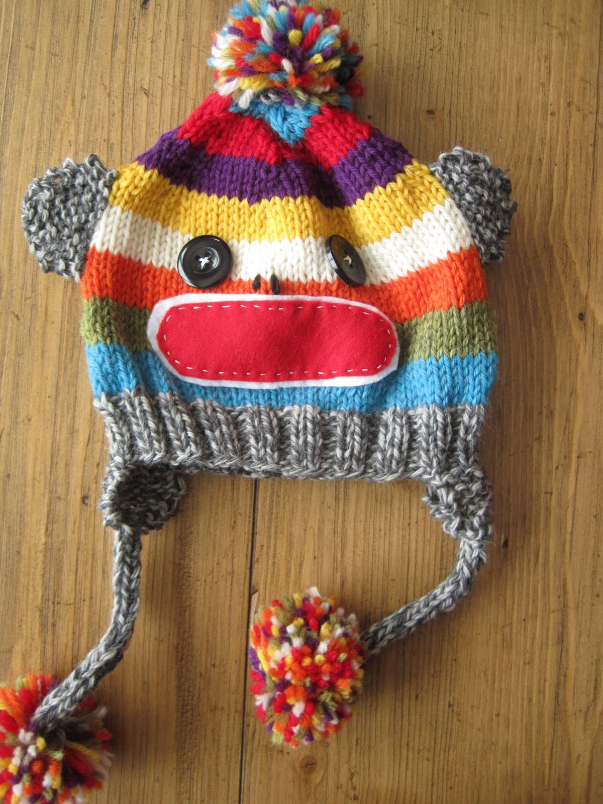Sock Monkey Hat Knitting Pattern : the vintage umbrella: Sock Monkey Hat