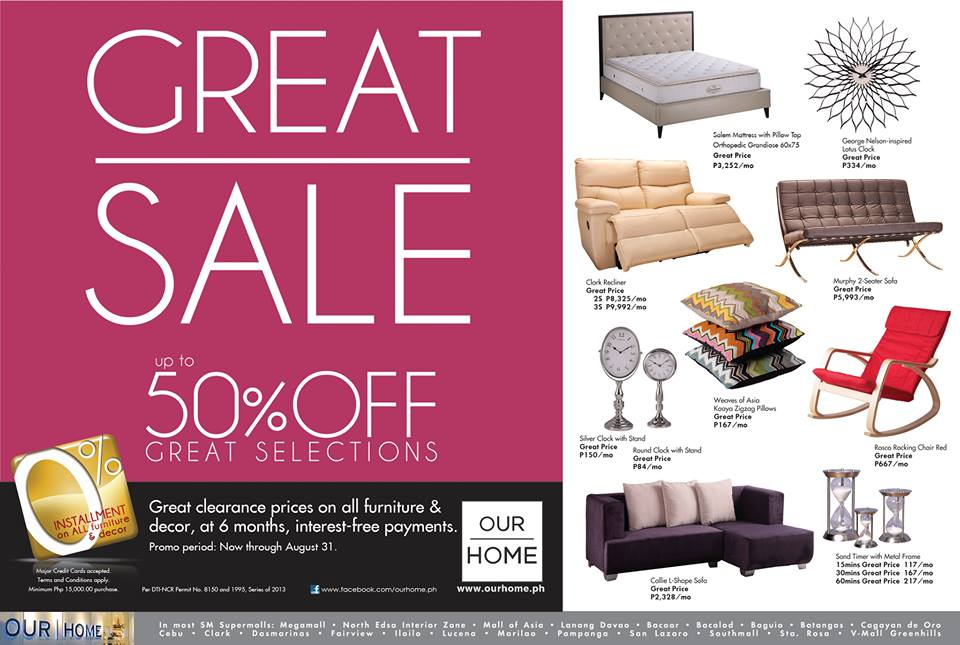 Manila shopper the great sm homeworld our home sale aug 2013 Home furniture sm philippines