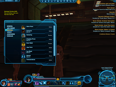 SWTOR - Abilities Window