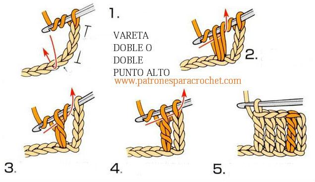 como tejer paso a paso el punto vareta doble