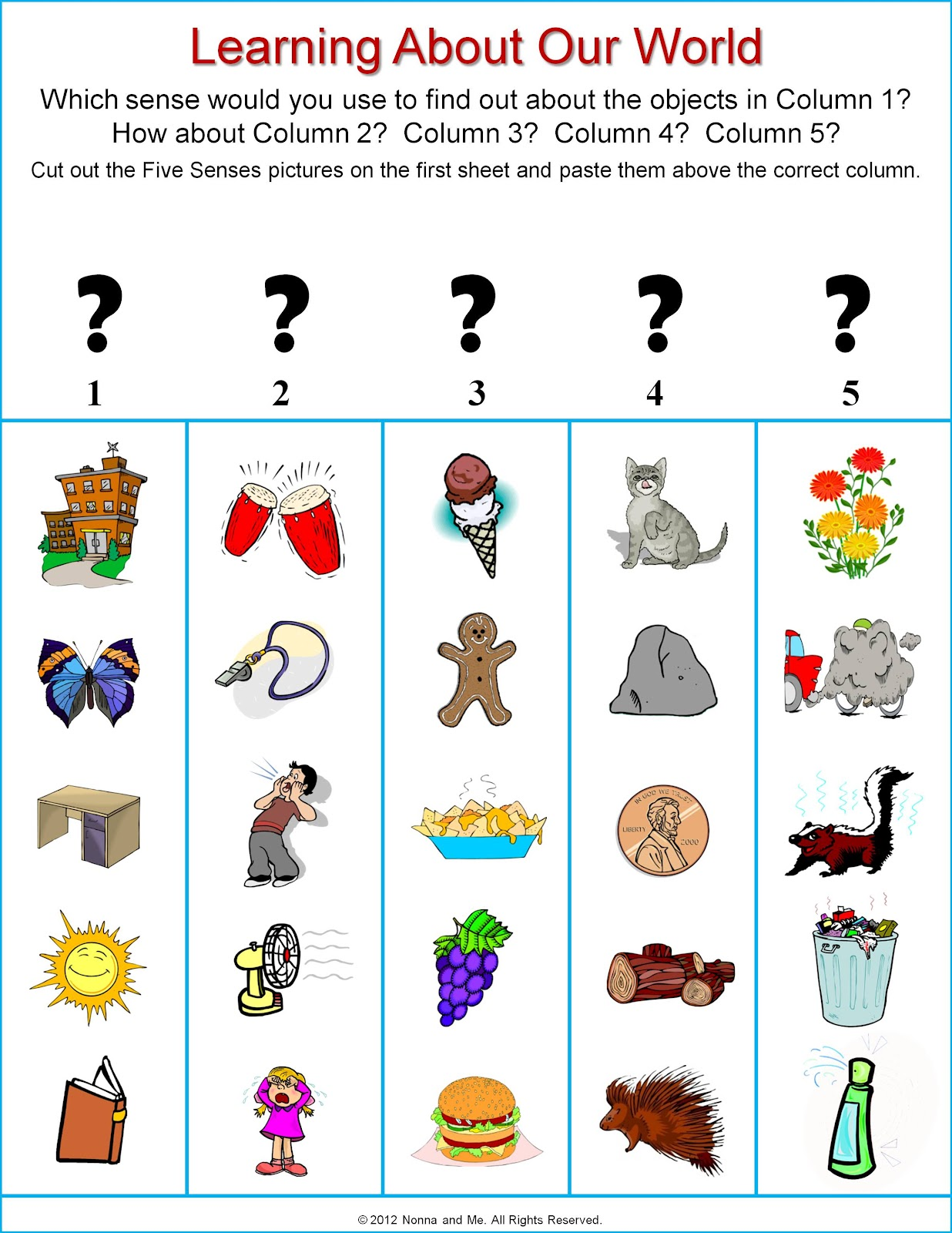 math worksheet : five senses activities and worksheets for kindergarten  teaching  : Five Senses Worksheets Kindergarten