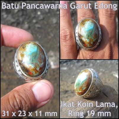 Batu Garut Hijau SuperAG210 - Batu Pancawarna Garut Edong - Antik
