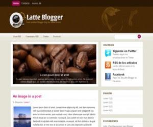 Latte Blogger Blogger Template