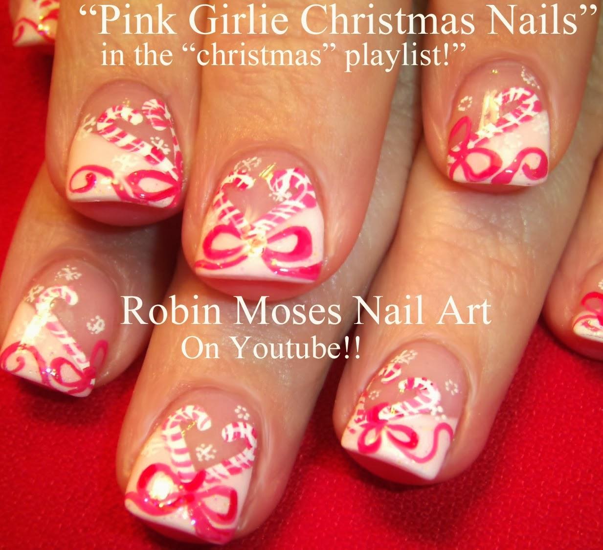 Nail Art Christmas Corset Girlie Nails Pink Mrs Claus Santa Chalkboard